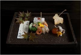 秋分末候 水始涸 小さなお皿に季節を盛り込みます。